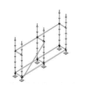 colocación barras horizontales andamio