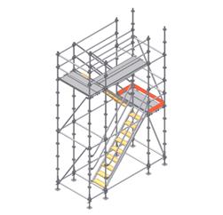 Montaje de las protecciones finales y plataformas metálicas