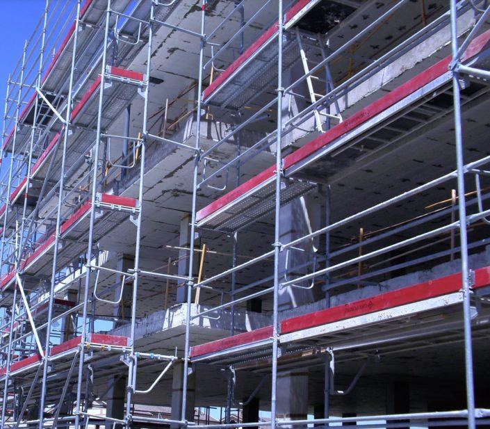 Andamio europeo de fachada estructura