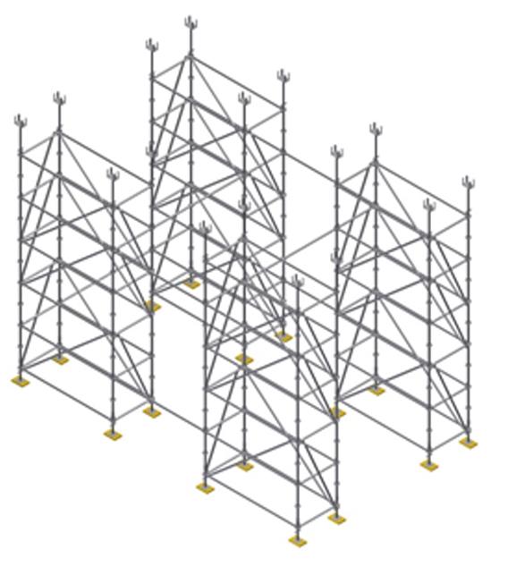 cimbras estructura montaje