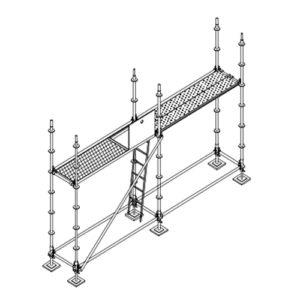 colocación plataformas acceso andamio