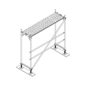 Colocación plataformas y nivelación