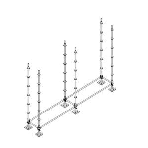 colocación puntales verticales andamios