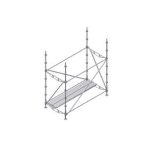 diagonales y plataformas de apoyo de escalera